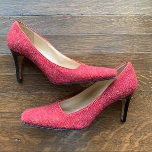 Kate Spade Red Tweed Heels